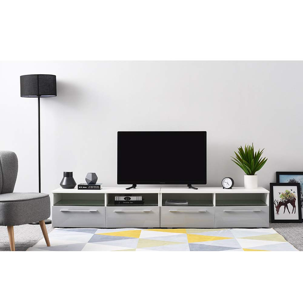 Ruication - Mueble de TV LED de 200 cm con luz RGB LED ...