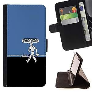 Momo Phone Case / Flip Funda de Cuero Case Cover - Getting Loaded - Funny - Samsung Galaxy E5 E500