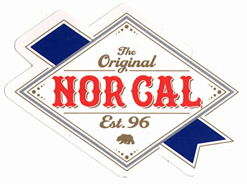 Nor Cal - Ribbon Label Skateboard Sticker - 11.5cm wide approx. skate snow surf board bmx guitar van (Best Scenic Drives In Northern California)