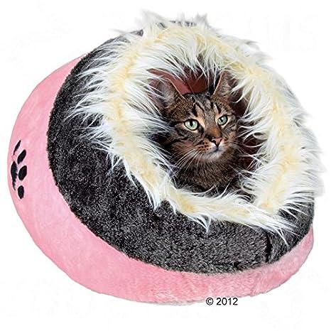 Acogedora cama gato cueva Den peluche: Amazon.es: Productos ...
