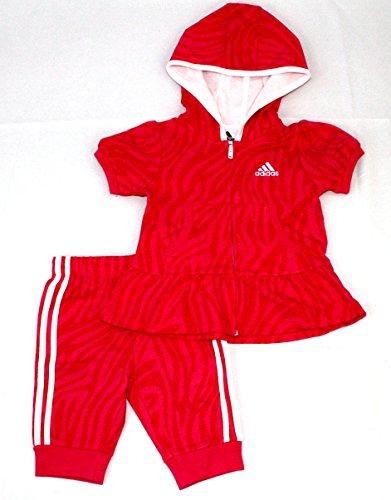 Toddler Girls Capri Set (adidas Girls' Infant Toddler Capri Jogger Set (6M))