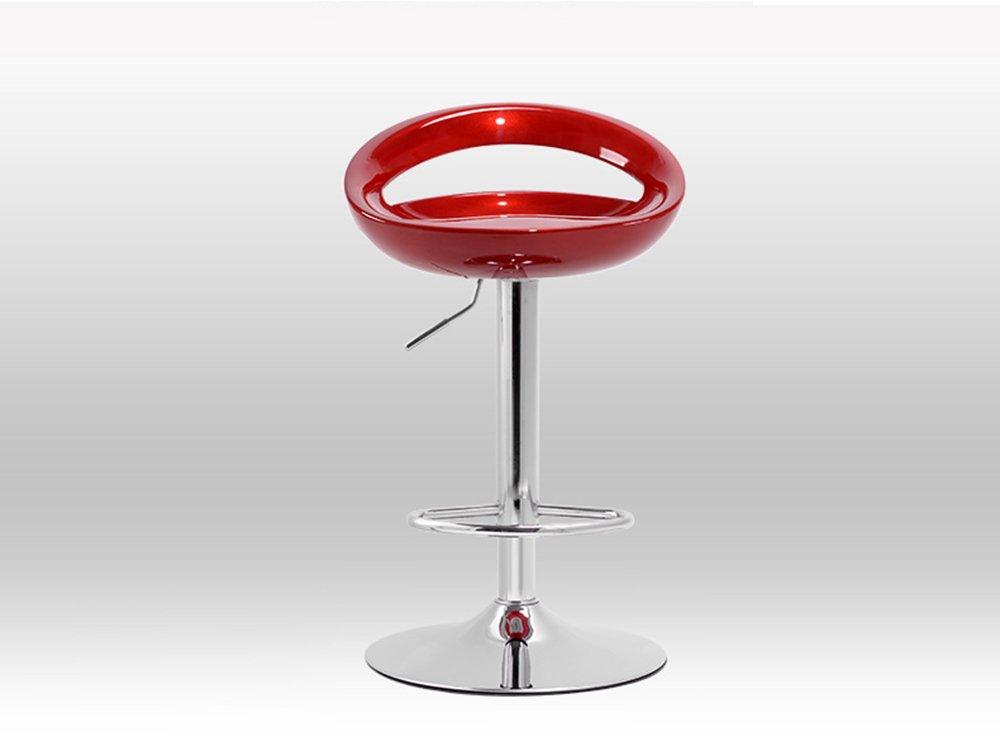 スツールヨーロッパは、回転バーを上げることができますクリエイティブ高い椅子ヨーロッパのレトロバースツール複数色 (色 : ワインレッド) B07CGY3FF8 ワインレッド ワインレッド