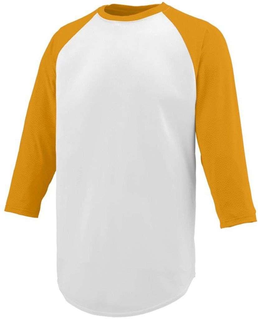 Augusta Sportswear SHIRT ボーイズ B00HJTOVJ6 L|ホワイト/ゴールド ホワイト/ゴールド L