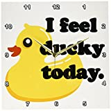 Cheap 3dRose dpp_163771_2 I Feel Ducky Today. Rubber Duck-Wall Clock, 13 by 13-Inch