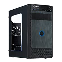 ROSEWILL Micro ATX Mini Tower Computer Case, Black Steel and Plastic Computer case with 1x 120mm Front Fan and 1x 80mm Rear Fan, Front I/O and 2X USB 3.0 with Transparent Side Panel (FBM-X1)