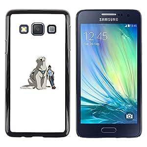 Cubierta protectora del caso de Shell Plástico || Samsung Galaxy A3 || Yeti perro @XPTECH