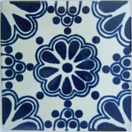 Amazon.com: 2 x 2 36 Pcs Azul Ramo mexicano de Talavera Tile ...