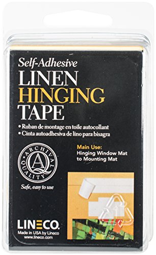 Lineco Self Adhesive Linen Hinging Tape 1 1/4 in. x 12 ft.
