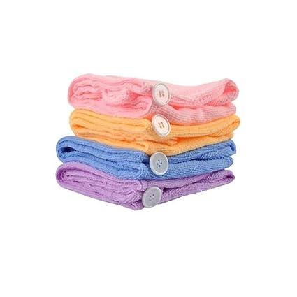 Creatif Ventures Girl's Wet Hair Dry Cap Turban Wrap (Assorted Colour, Standard Size)