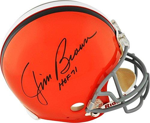 Jim Brown Signed /Autographed Browns Authentic Pro-Line Helmet w HOF 1971 Inscriptions ...PSA LOA ()