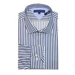 Tommy Hilfiger Men Striped Logo Dress Shirt