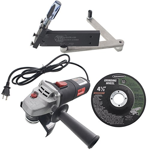 USA Mower Blades All American Sharpener 5000 Sharpener Kit for Standard and Mulching Lawn Mower Blades with Angle Grinder and Wheel by USA Mower Blades