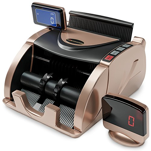 Money Counter Machine - Bill Counter Machine - Portable Money Machine Counter - 150 Straps & Counterfeit Detector Pen - Money Counting Machine for Mixed Bills - Currency Counter - Dollar Cash Counter (Money Counter)