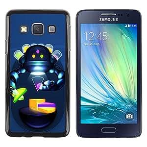 Smartphone Rígido Protección única Imagen Carcasa Funda Tapa Skin Case Para Samsung Galaxy A3 SM-A300 Abstract Robot Sci Fi Humanoid Woman / STRONG
