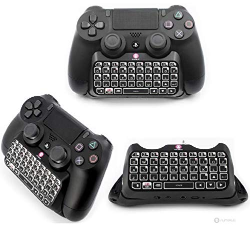 Amazon.com: PS4 CONTROLLER KEYPAD - Official Sony PS4 Bluetooth Wireless Mini Keyboard KeyPad Adapter for PlayStation 4 DualShock Controller Sony ...