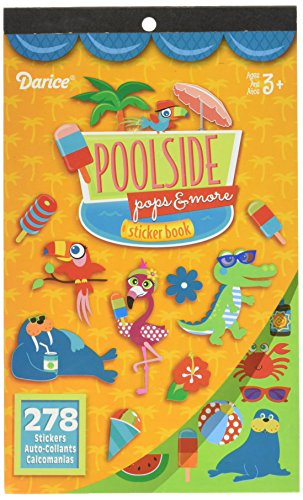 Darice 106-6894D, 278 Stickers, Poolside Theme Sticker Book Darice Sticker Book