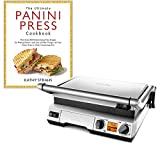 "Breville BGR820XL Smart Gril Bundle with""The Ultimate Panini Press Cookbook More Than 200 Recipes"" Cookbook - Stainless Steel"
