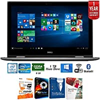 Dell Inspiron i5578-2451GRY 15.6 FHD Laptop-7th Gen Intel Core i5, 8GB RAM, 1TB HDD + Elite Suite 17 Standard Software Bundle (Corel WordPerfect, PC Mover, PDF Fusion, X9) + 1 Year Extended Warranty