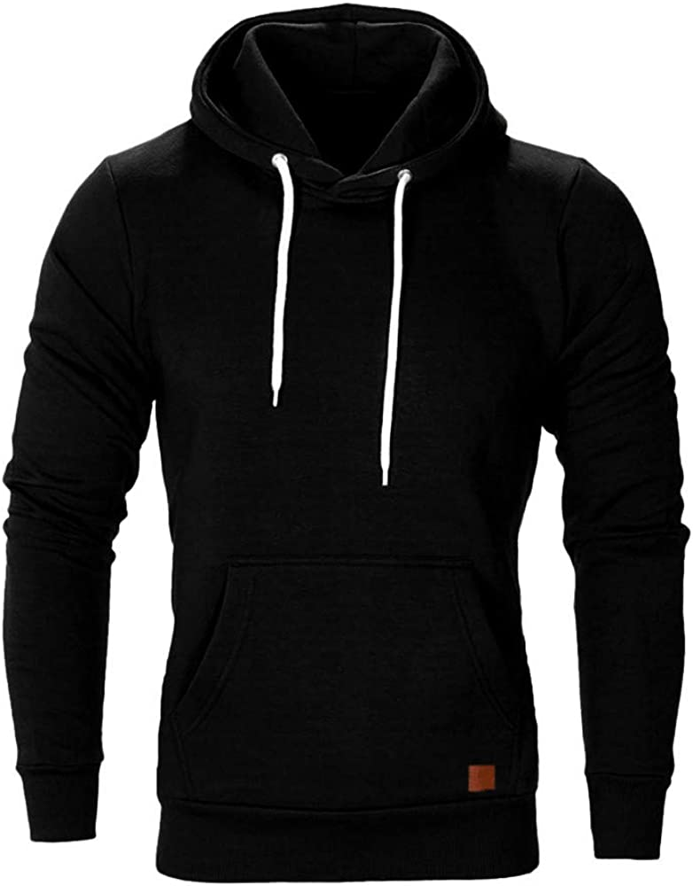 Doublelift Mens Sweatshirt Hoodies Slim Fit Long Sleeve Pullover Sweater Solid Color Top Blouse Tracksuits M-5XL