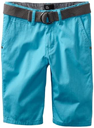 Micros Big Boys' Voyager Belted Solid Short, Turquoise, 18
