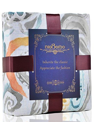 nioBomo 3 Pieces Duvet Cover Set - Reversible - Soft Microfiber - Paisley Printed (Queen, 3) - Rainbow Tree Duvet Cover