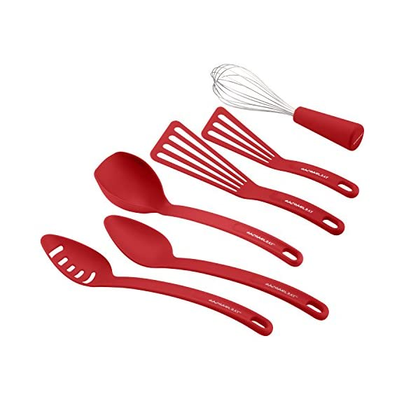 Rachael Ray Nylon Nonstick Set, Red, 6-Piece, Tools and Gadgets, One Size 2