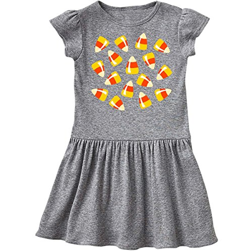 inktastic Just Candy Corn Toddler Dress 4T Heather Grey (Baby Candy Corn)