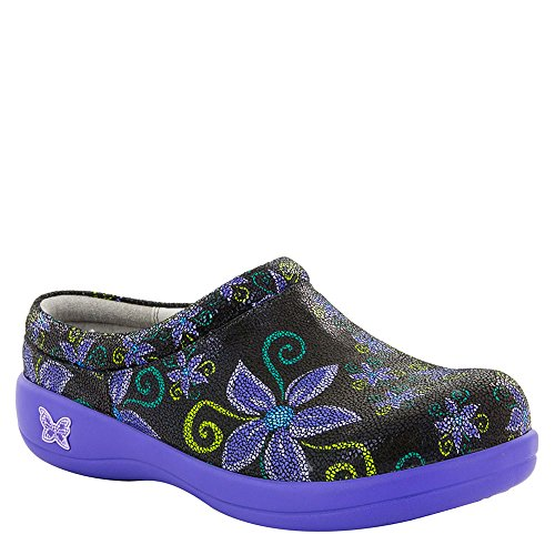 Alegria Women's Kayla Wild Flower Slide On Clog (KAY-836) Size: Euro 38 \ US 8-8.5, Width: Medium