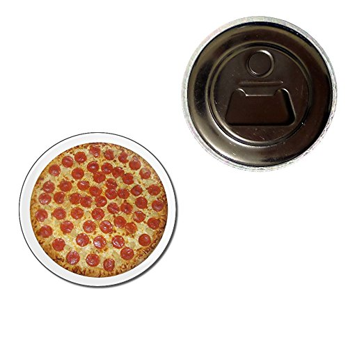Pepperoni Pizza - 55mm Fridge Magnet Bottle Opener (Pizza Fridge Magnet compare prices)