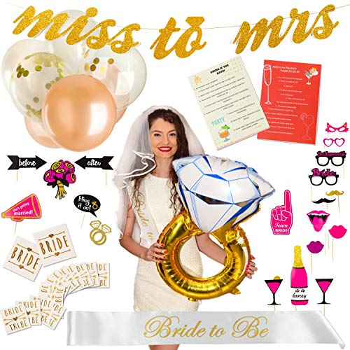 Exclusive Bachelorette Party Decorations - Bridal Shower Supplies Kit with