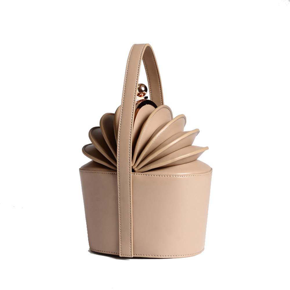 爆売り! 婦人用バッグ Medium シンプルでスタイリッシュな女性のヴィンテージストライプレザーハンドバッグ人格ポータブルパイナップルオルガンバケツ形状クリエイティブトップハンドルトートバッグキャットウォークアクセサリー (色 : 褐色, サイズ 褐色, 婦人用バッグ : S) B07RHN8G6G アプリコット Medium Medium|アプリコット, おいしい生活:2be6f75b --- campdxn.com