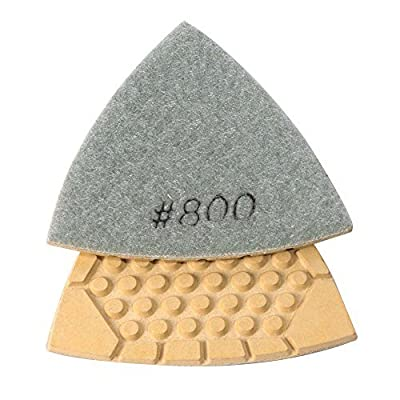 Specialty Diamond BRTTD800 Diamond Triangular Dry Pad with 800 Grit: Home Improvement