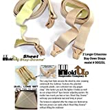 Crisscross Fitted Sheet Strap Stay-downs with US Patented Gripper Clasps