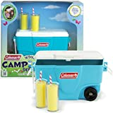 18 Inch Sophia's Doll Accessories, Aqua Coleman Cooler with Lemonade Glasses Perfect for the 18 Inch American Picnic Girl and Other Play Food Sets! Aqua Coleman Cooler with Lemonade Glasses