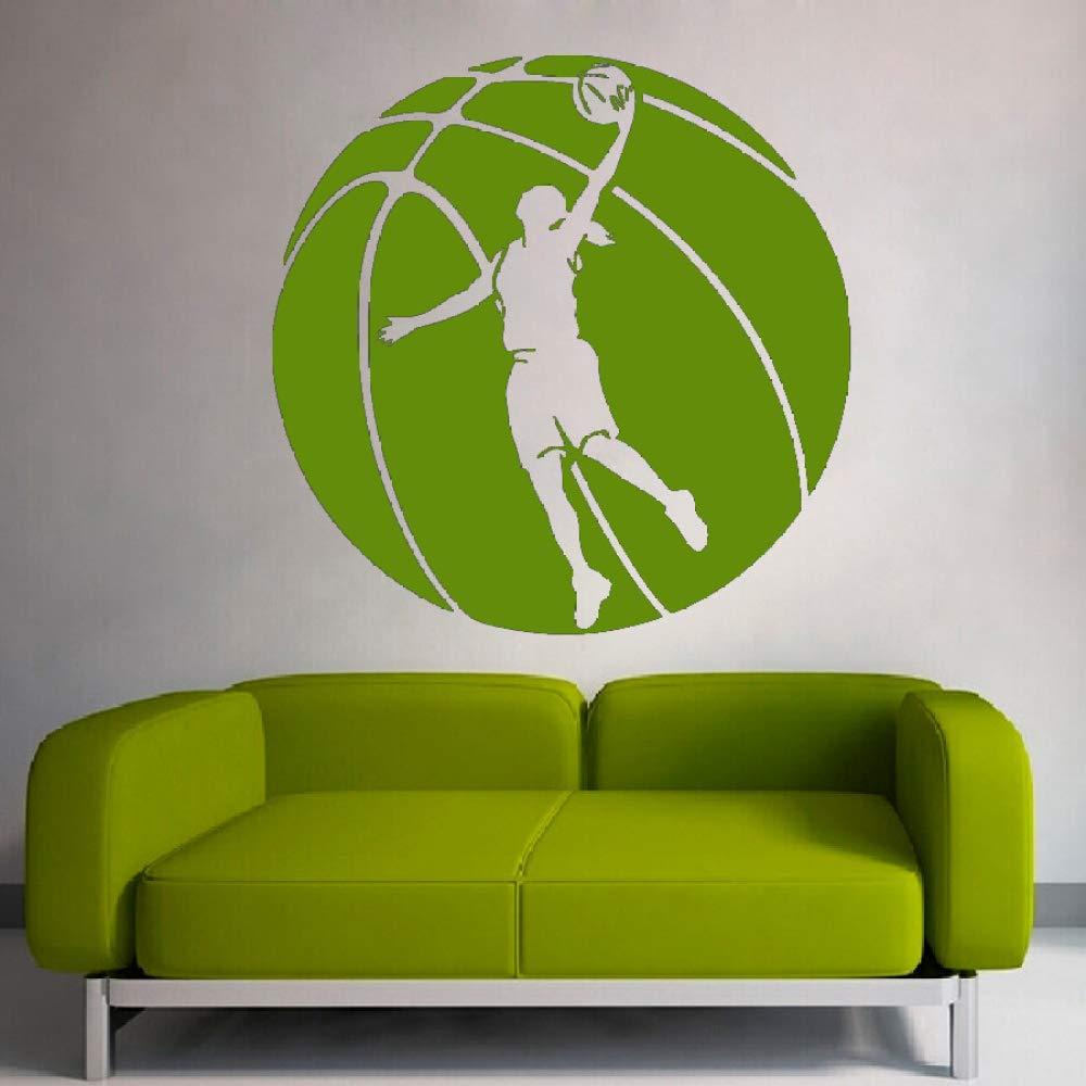 Enorme patrón de baloncesto con el jugador de básquetbol silueta ...