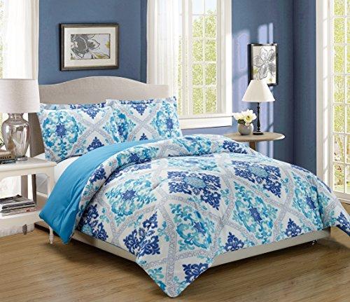 3 Piece Comforter Reversible Alternative Turquoise product image