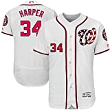 Majestic Athletic Men's Washington Nationals #34 Bryce Harper Home White Player Jersey