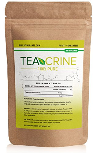 TEACRINE | Theacrine 100% Pure Bulk Powder | 133 Servings | New Nootropic Stimulant for Energy Endurance & Focus