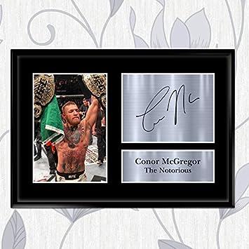 Conor Mcgregor firmato stampato Autograph UFC stampa foto immagine display/ 594 x 420 mm /Great gift idea A2/A3/A4/A5 A2