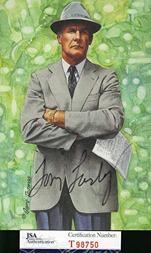 TOM LANDRY JSA Coa Autograph Goal Line GLAC Hand Signed Authentic