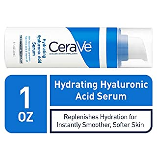 CeraVe Hyaluronic Acid Face Serum | 1 oz | Hydrating Serum for Face with Vitamin B5 | For Normal to Dry Skin | Paraben & Fragrance Free