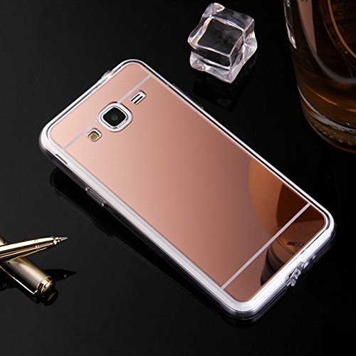 online store f970b 9c034 Samsung Galaxy Amp Prime Case, Nicelin Acrylic Plastics Mirror Plane Cover  and Soft TPU Material Case for Samsung Galaxy Amp Prime (Cricket) / ...