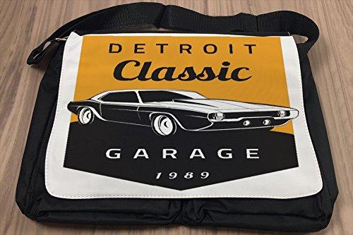 Borsa Tracolla Nostalgico Retrò Auto Classic di Detroit Stampato