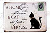 Metal Tin Sign Home Without A Dog Retro Home Pub Bar Wall Decor Poster