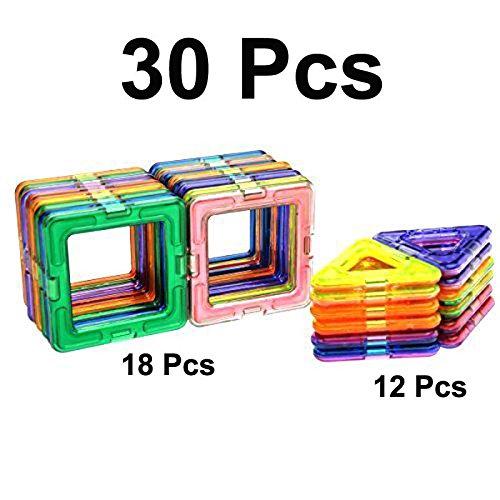 30Pcs All Magnetic Building Blocks Construction Similar Magformers Toys - Australia Ford Shop