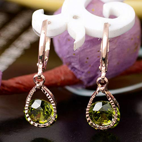 - Dokis Hot Sale 18K Gold Plated Earrings 9 Colors CZ Crystal Dangle Earrings Ear Hoop | Model ERRNGS - 16358 |