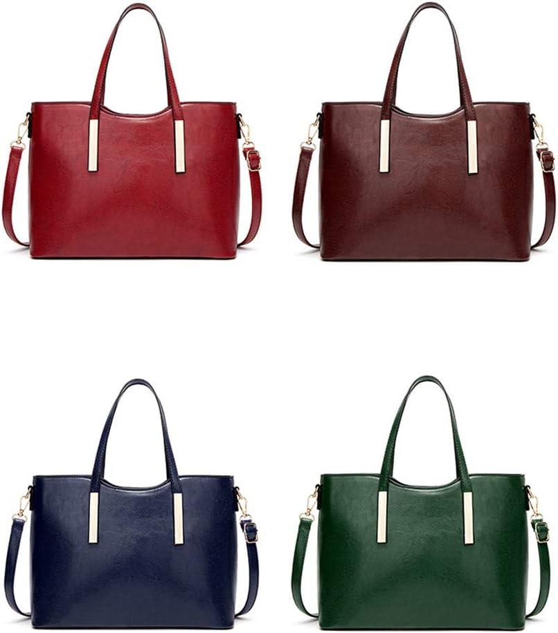 DONYKARRY Top Handle Handbags Para Damas Bolsos De Piel De Vacuno Para Mujeres Bolsos De Hombro Grandes Genuinos Bolsos Cruzados De Cuero (Azul)