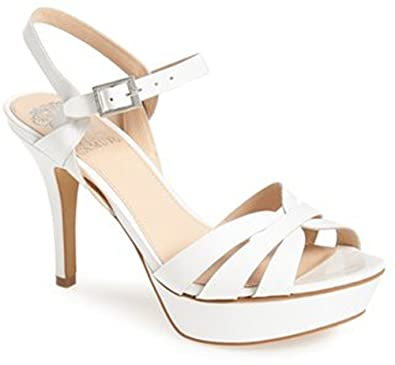 Amazon.com | VINCE CAMUTO PEPPA STRAPPY HIGH HEEL SANDAL IVORY, 11 | Sandals