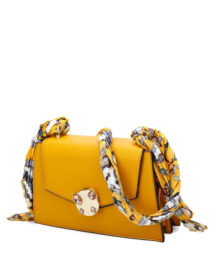 Craze London dam liten axelväska handväska med scurf design rem Svart