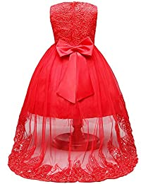 Girls Sequins Lace Tulle Wedding Pageant Dresses Formal Communion Party Flower Gown